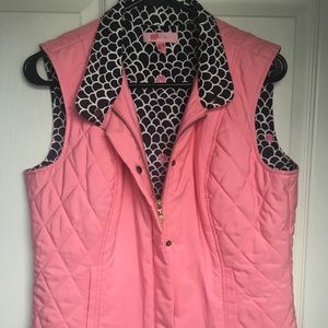 Lily Pulitzer Light Pink quilted vest Size Small